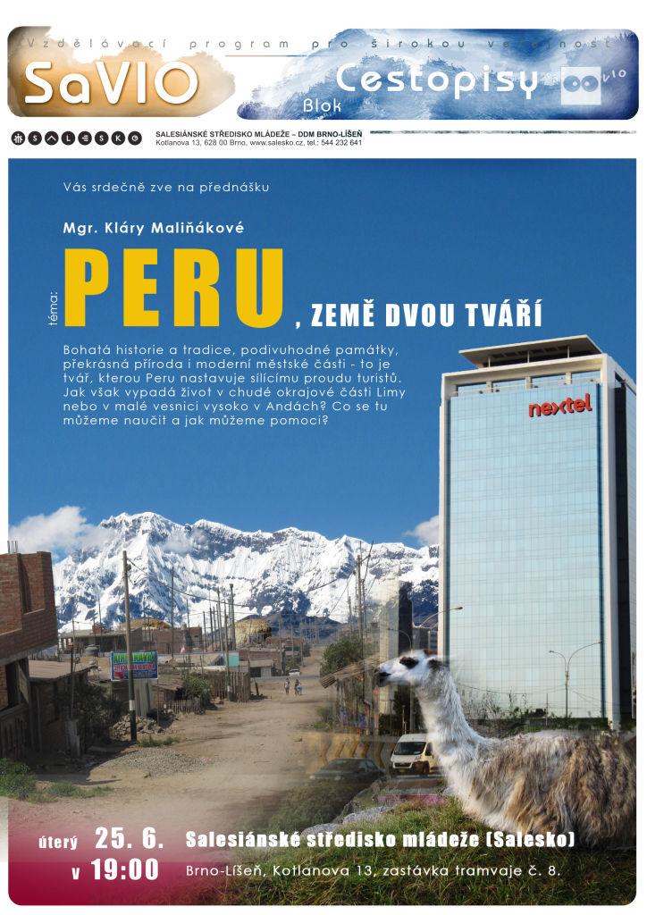 <a href='https://www.salesko.cz/savio-peru-zeme-dvou-tvari-mgr-klara-malinakova-sdj/' title='SaVIO – Peru, země dvou tváří (Mgr. Klára Maliňáková, SDJ)'>SaVIO – Peru, země dvou tváří (Mgr. Klára Maliňáková, SDJ)</a>