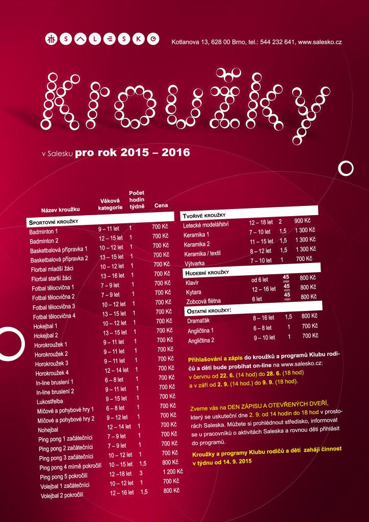 <a href='https://www.salesko.cz/krouzky-2015-2016/' title='Kroužky 2015 – 2016'>Kroužky 2015 – 2016</a>